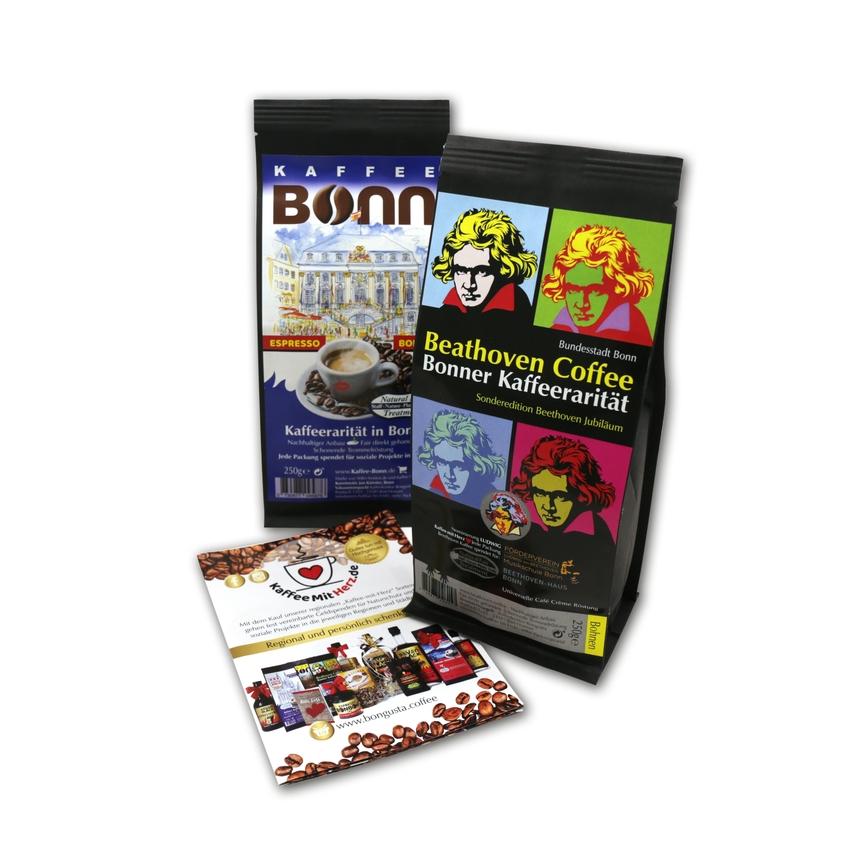 NEU eingetroffen: Kaffee Bonn und Beathoven Coffee - genießen und Gutes tun!